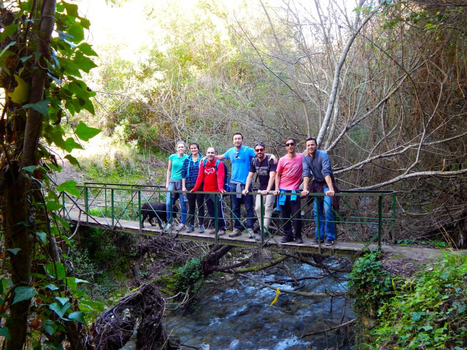 The trail between El Bosque and Benamahoma followed a riveralong the trail
