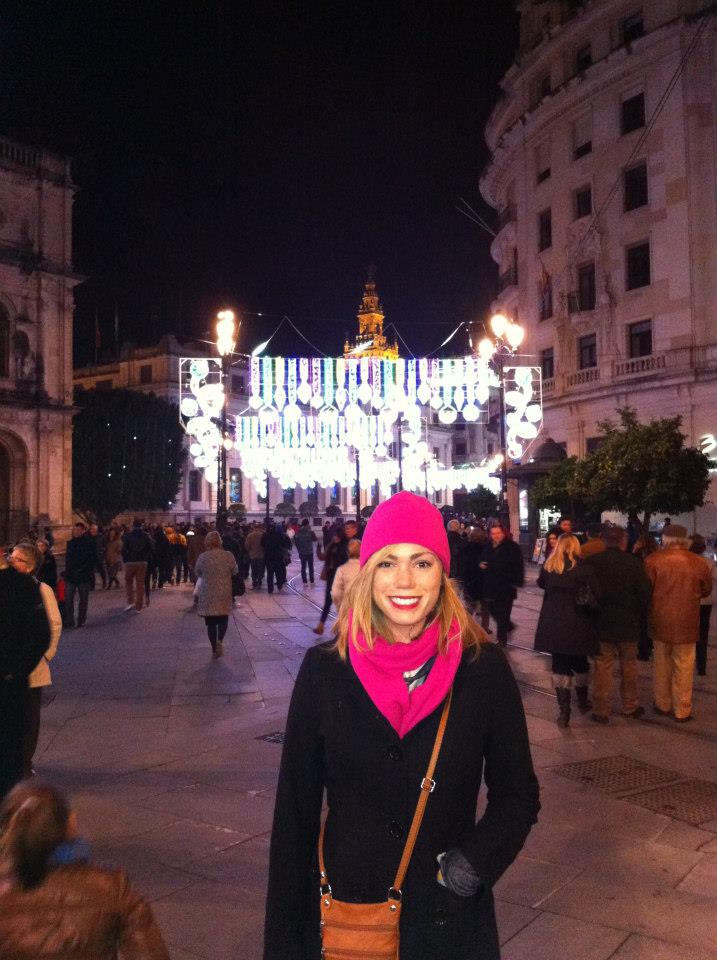 First time I saw the lights near the Cathedral! We walked around for hours looking at them all!