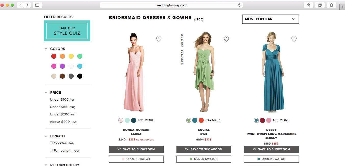 using wedding ton way bridesmaid dresses