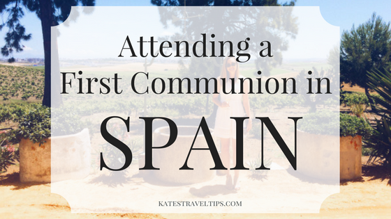 attending a first communion in spain