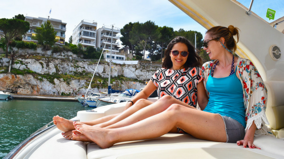 Enjoying coves, caves & cava on a private yacht in Majorca